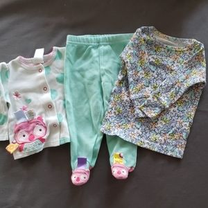 Shirts and one pair of pants